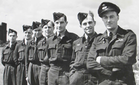 Photograph of ground crew of 617 Squadron, the Dambusters (Catalogue reference: INF 2/43)
