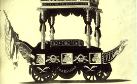 Illustration of vehicle carrying Nelson's coffin, 1806 (Catalogue reference: LC2/40)