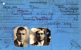 Example of alien registration card (Catalogue reference: MEPO 35/2/9)