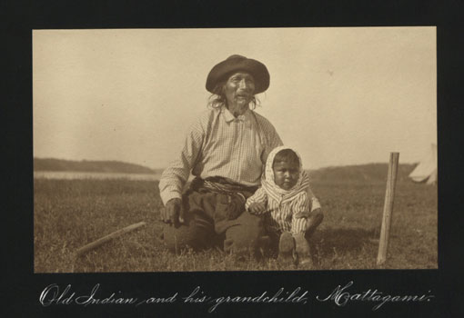 Old Indian and his grandchild: Mattagami. Catalogue reference: CO 1069/279