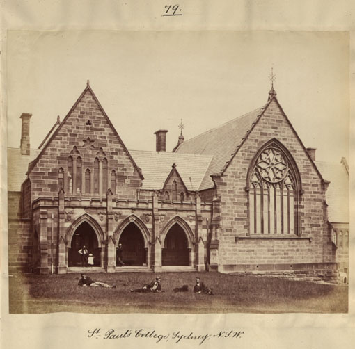 St. Paul's College, Sydney, N.S.W. 1870. Catalogue reference: CO 1069/599