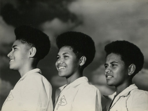 Fijian pupils of Adi Cakobau Girls' School. Catalogue reference: CO 1069/652