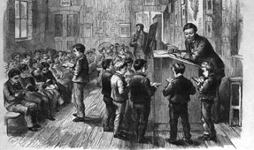 Illustrated London News, New School Room, 1870 (catalogue reference: ZPER 34/56)