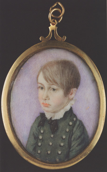 Miniature, Horatio Nelson age 8. Undated. Ref: MNT0033. © National Maritime Museum, London