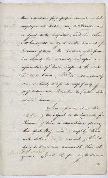 Nelson describes arrangements made for the health of his men. 7 August 1804. Cat ref: ADM 1/408 (N97). Crown copyright.