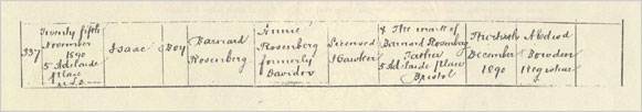 Isaac rosenberg his early life the national archives - General register office birth certificate ...