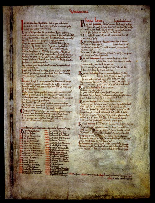 Domesday Book for Warwick. Cat ref: E 31/2