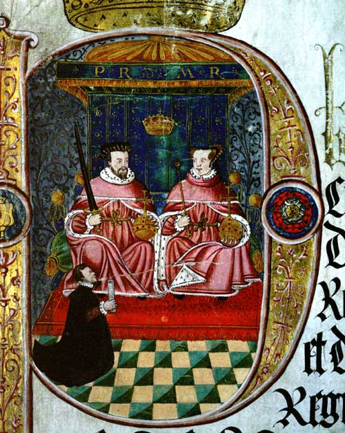 Portrait of Mary I and Philip II. Cat ref: KB 27/1185