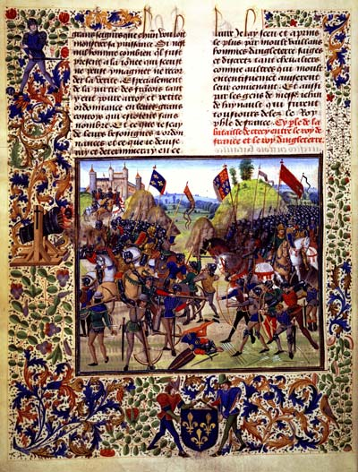 The Battle of Crécy, 26 August 1346