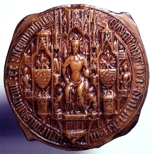 Facsimile of the Fifth Great Seal of Edward III