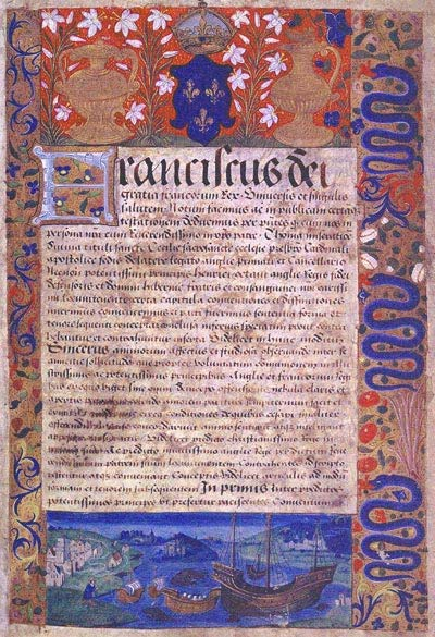 The ratification of the Treaty of Amiens, 18 August 1527. Cat ref: E 30/1113