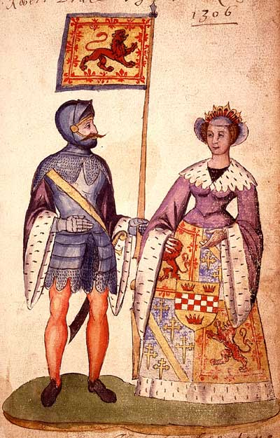 Robert I of Scotland (the Bruce) and his wife Isobel, daughter of John, Earl of Mar