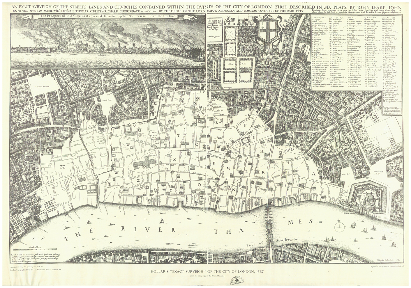 Great London Map.Map Of The Damage Caused By The Great Fire Of London 1666 1411