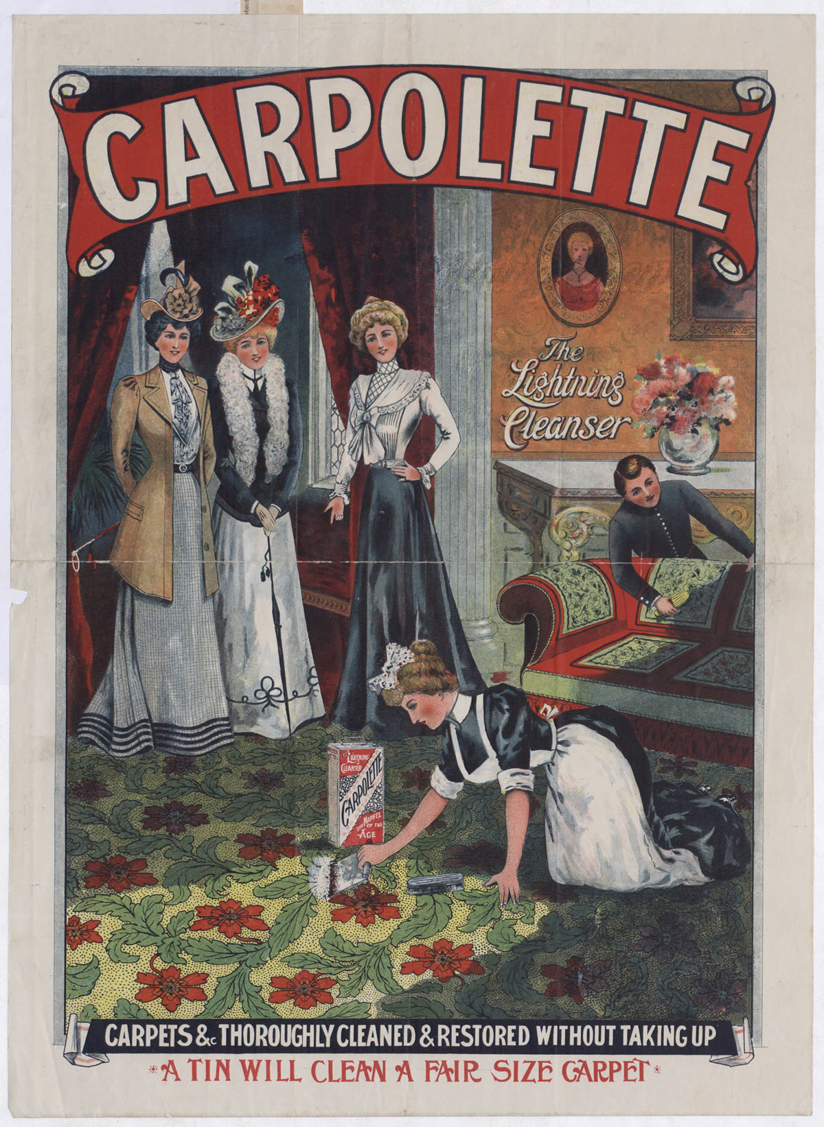 Advert for Carpolette carpet cleaner, 1901 (COPY 1 /177 f.107)