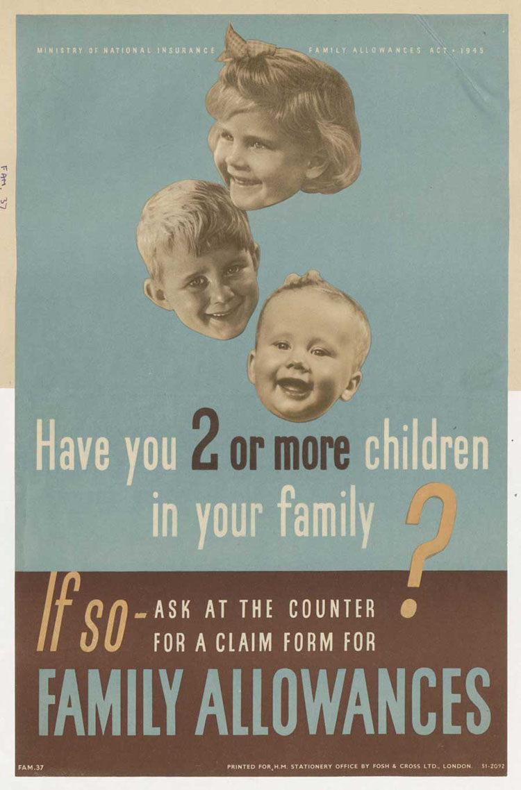 A poster to advertise the new family allowances (INF 2/66, pg 2)