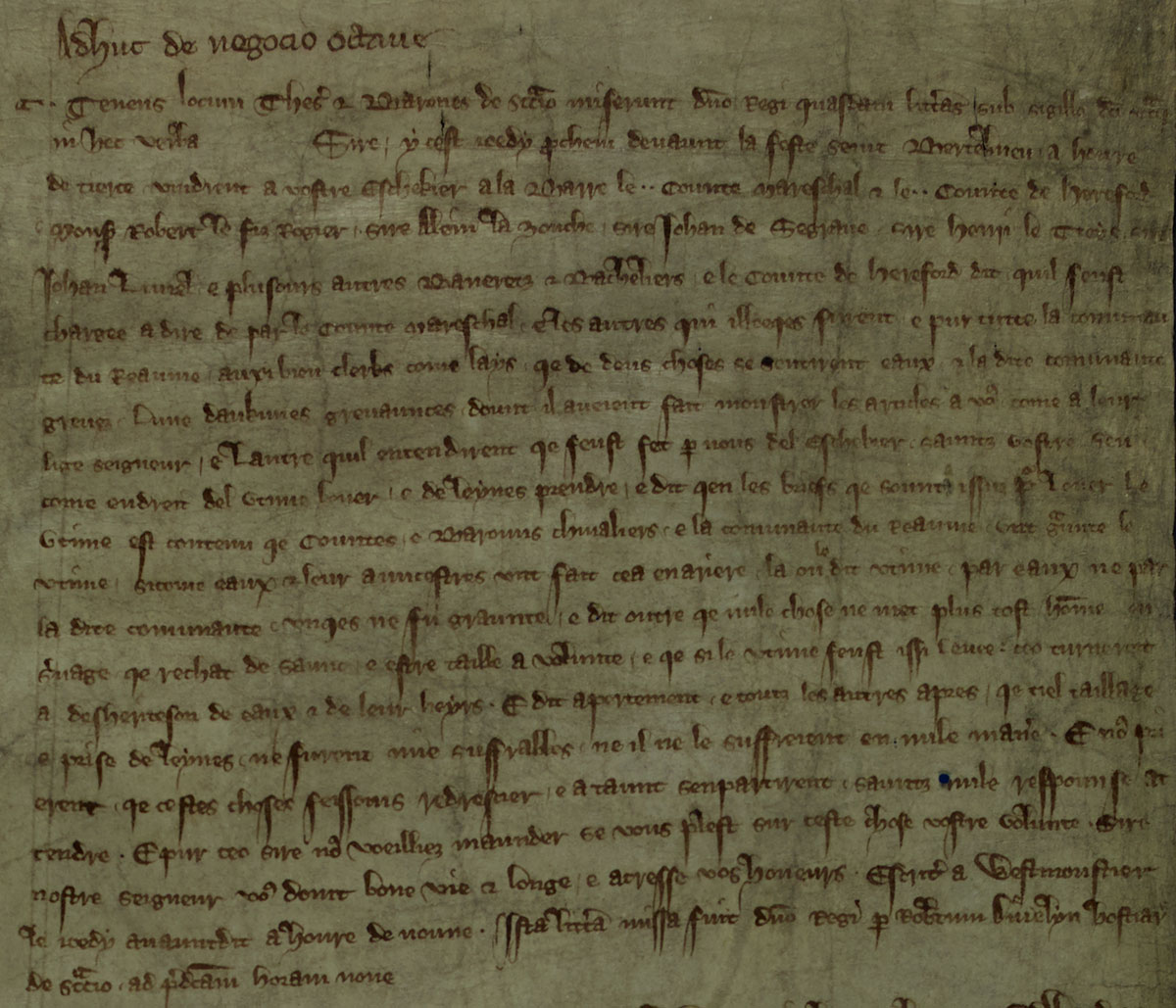 Statement by Roger Bigod and Henry de Bohun, E159-70)