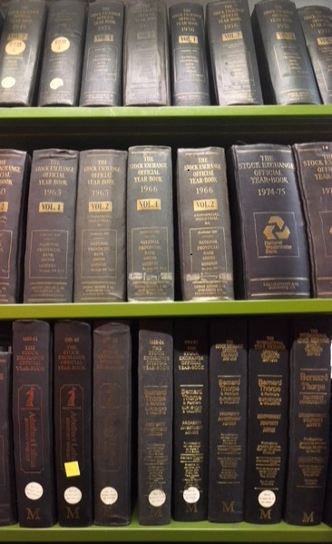 The Stock Exchange Official Year Books at The National Archives' library.