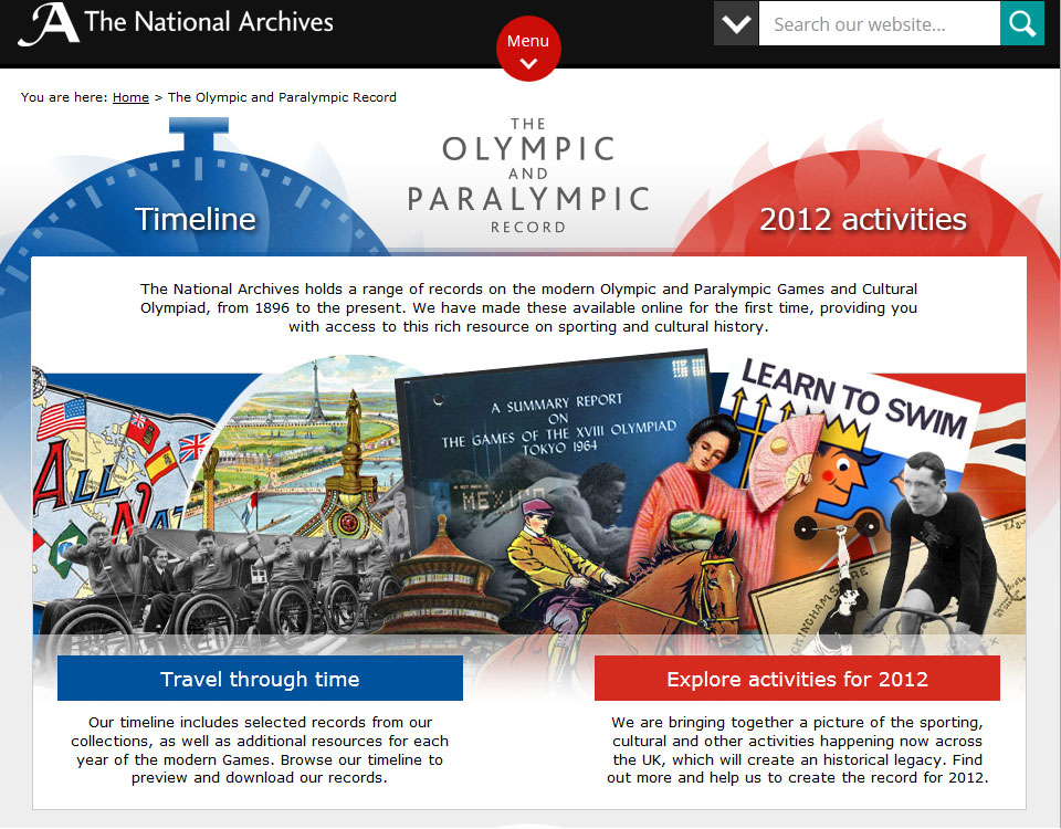 Screenshot of The Olympic and Paralympic Record