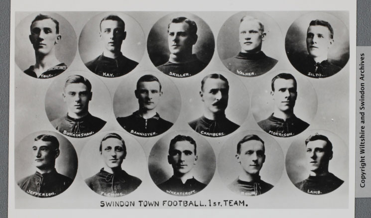 Swindon Town Football 1st team c1909 (ref 2367/9), courtesy of Wiltshire and Swindon History Centre