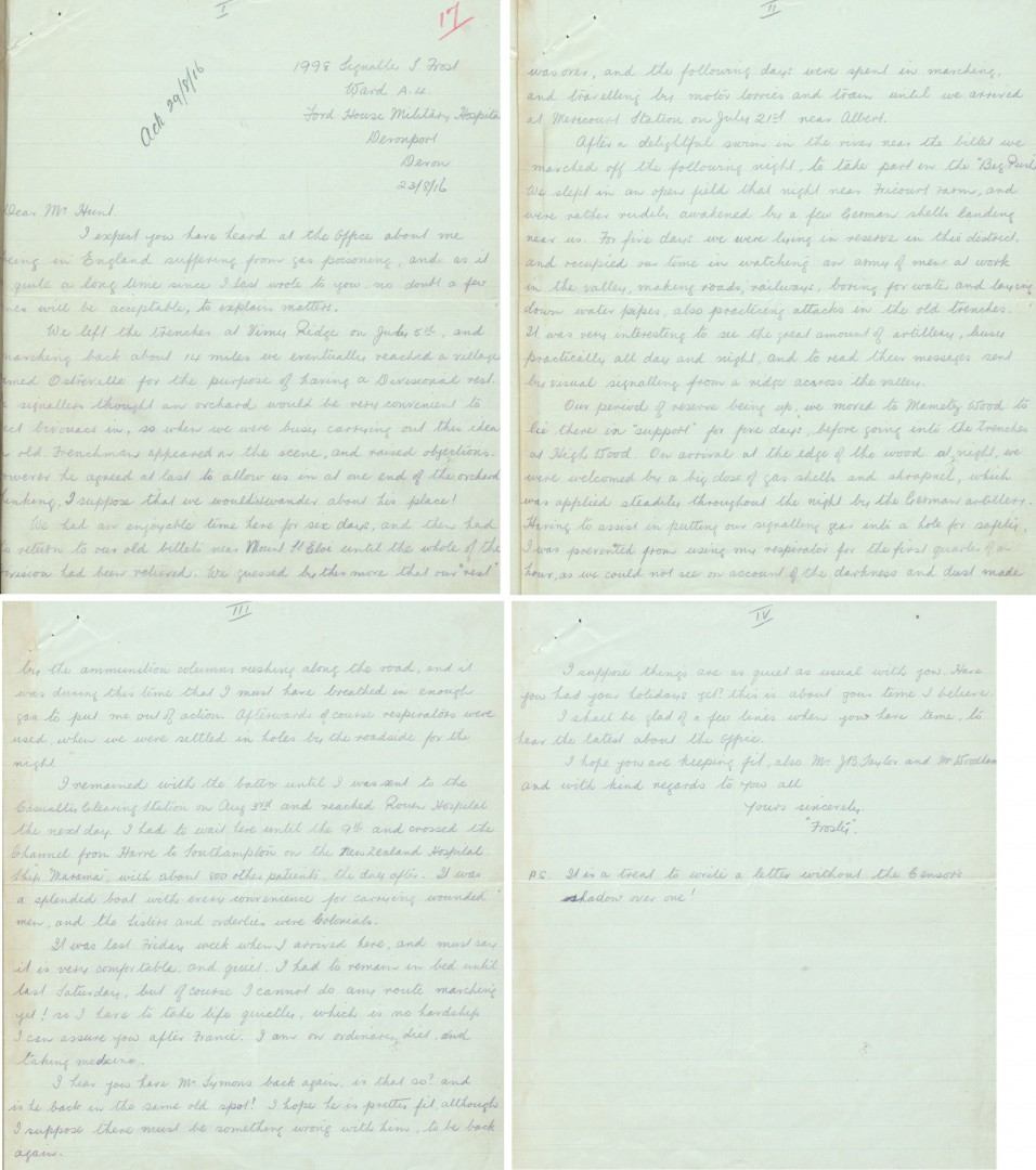 Trenches: 'a big dose of gas shells' - The National Archives