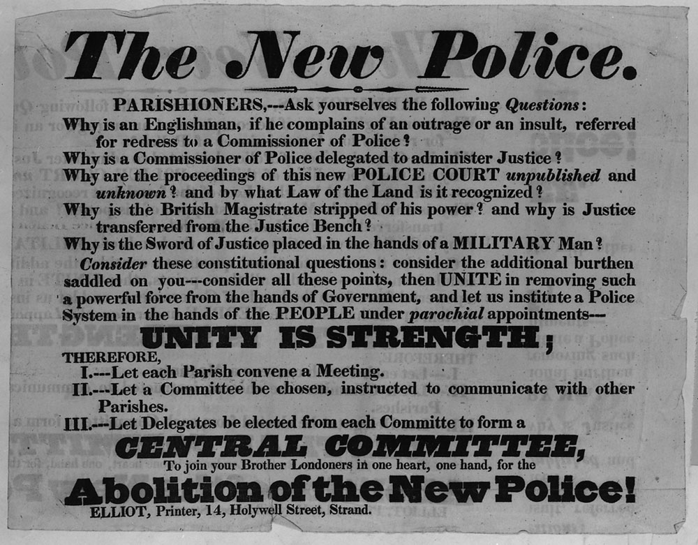 The New Police, 1830 (HO 61/2)