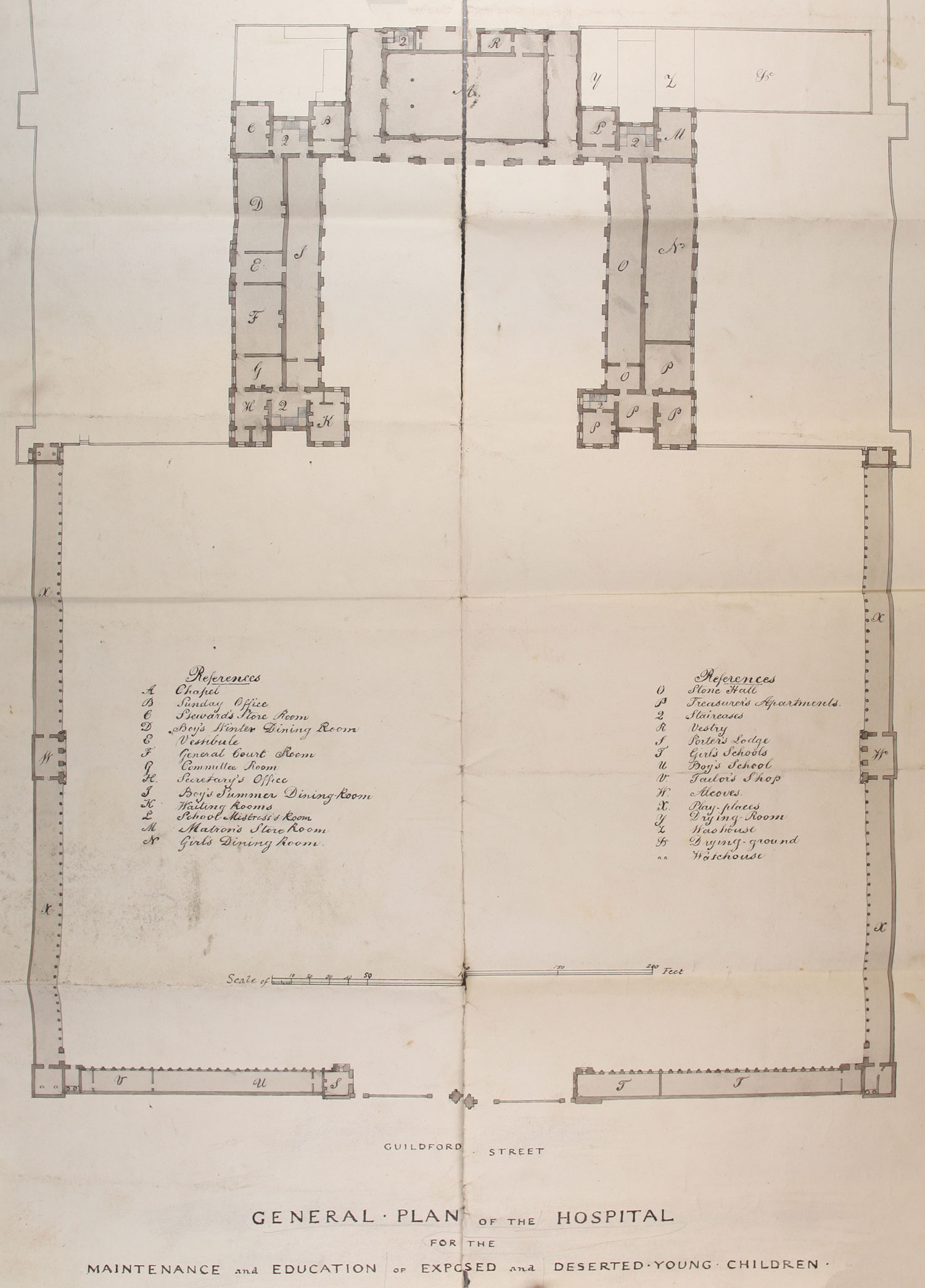 Plan of the hospital building the national archives view full size image malvernweather Images