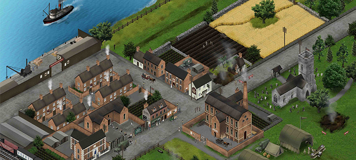 Image of a screenshot of Great Wharton, a fictional First World War town