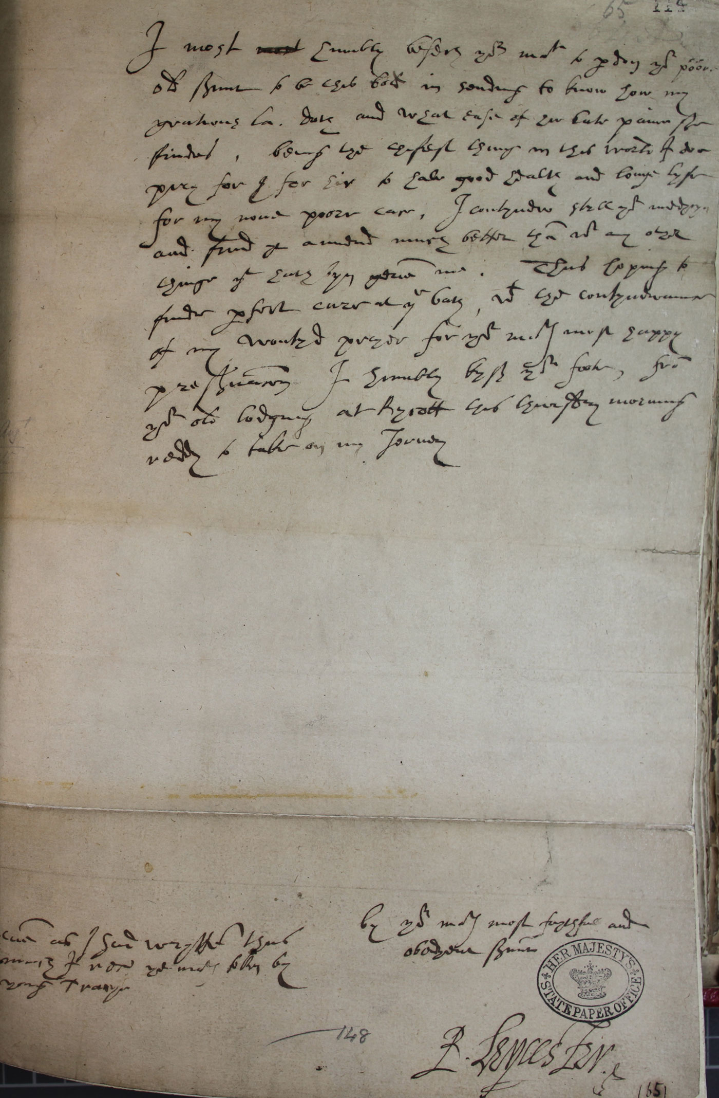 Robert Dudley, Earl of Leicester to Elizabeth, 29 August 1588 (SP 12/215 f.114)