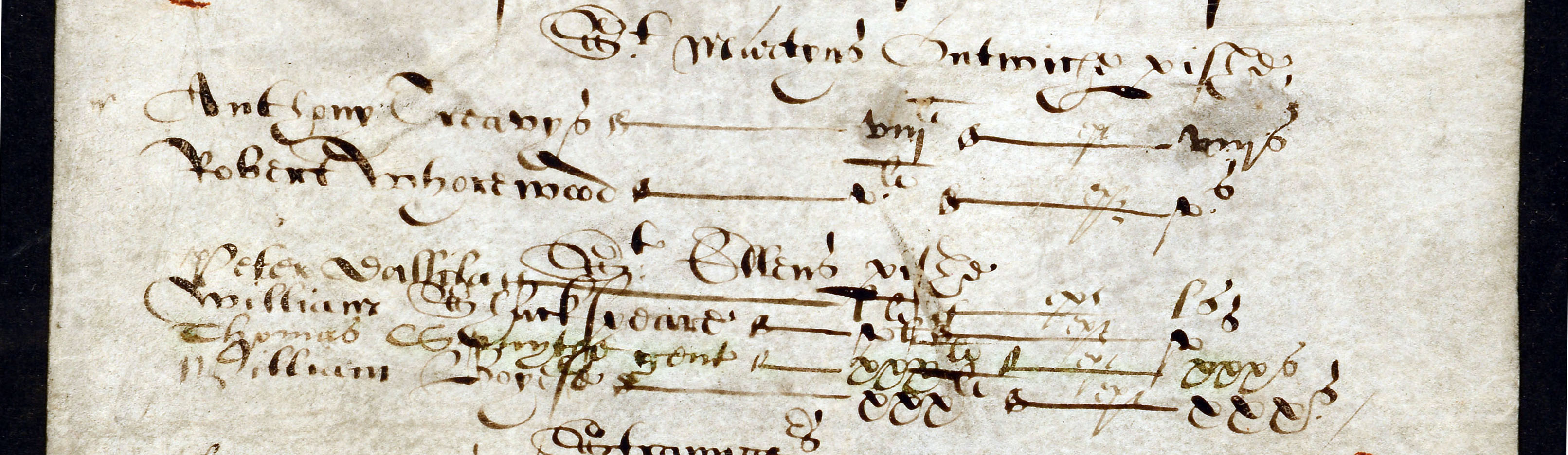 Shakespeare the tax evader: extract from a certificate by London tax commissioners, 1597 (E 179/146 f.354)