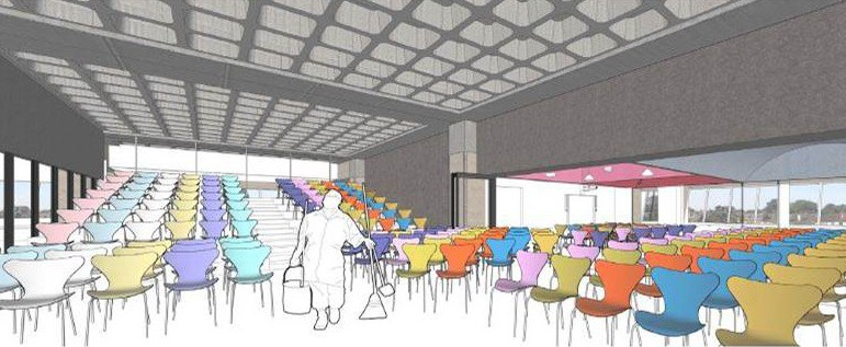 An artist's impression of the new events space