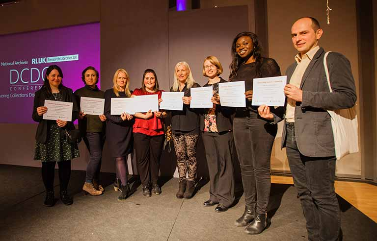 Last year's cohort of Skills for the Future trainees at the DCDC conference