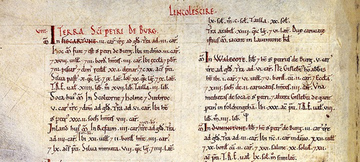 Domesday Book. The National Archives, UK