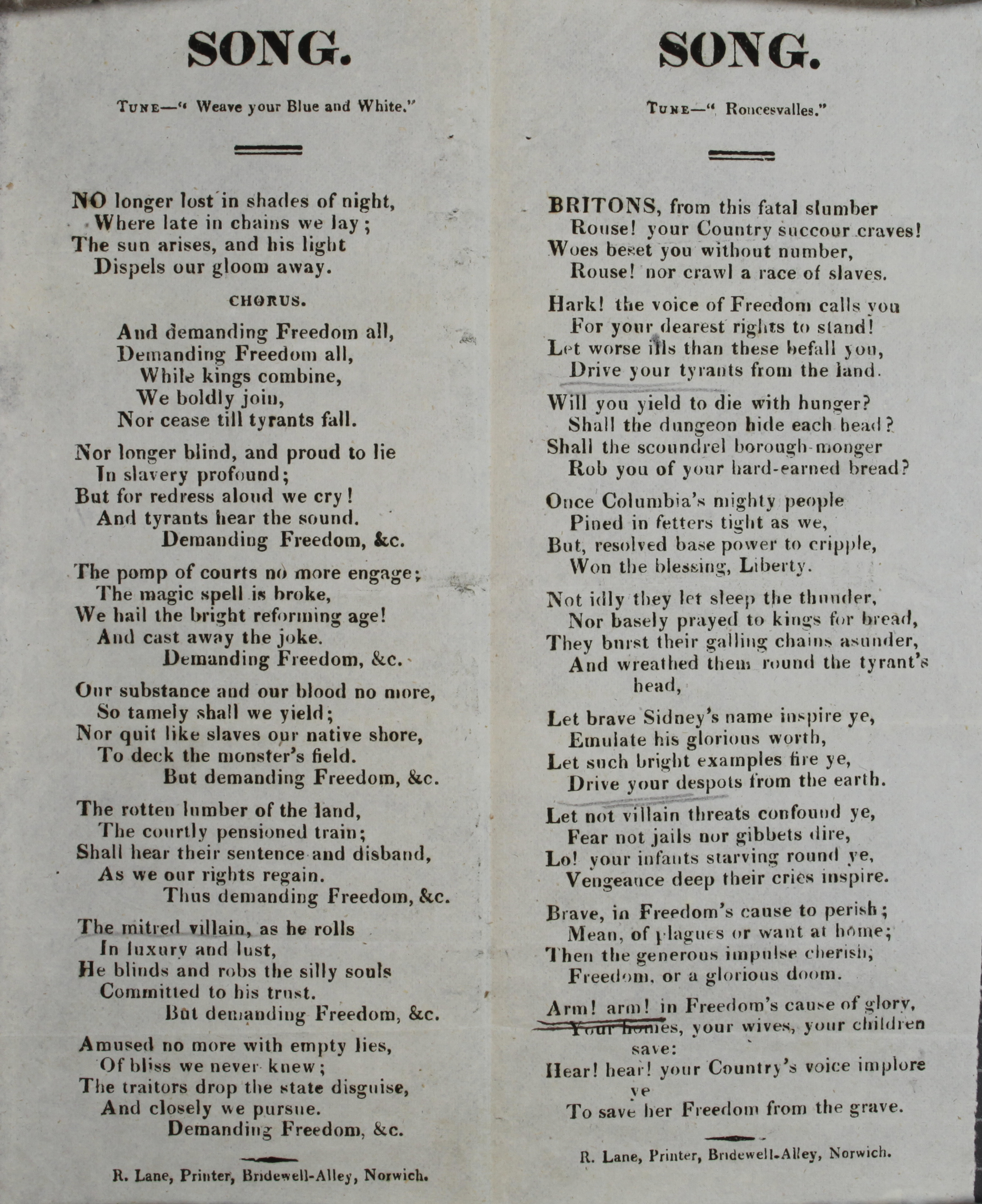 Seditious songs - The National Archives