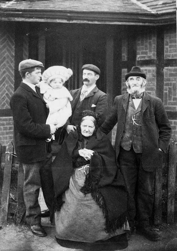 COPY 1/481 Five generations of the Fleckney family, 1905