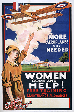 EXT 1/315 Pt2: Women Come and Help poster, First World War