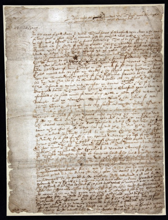 PROB 1/4: Will of William Shakespeare, 25 March 1616