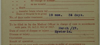 Image of Treatment for 'hysteria'