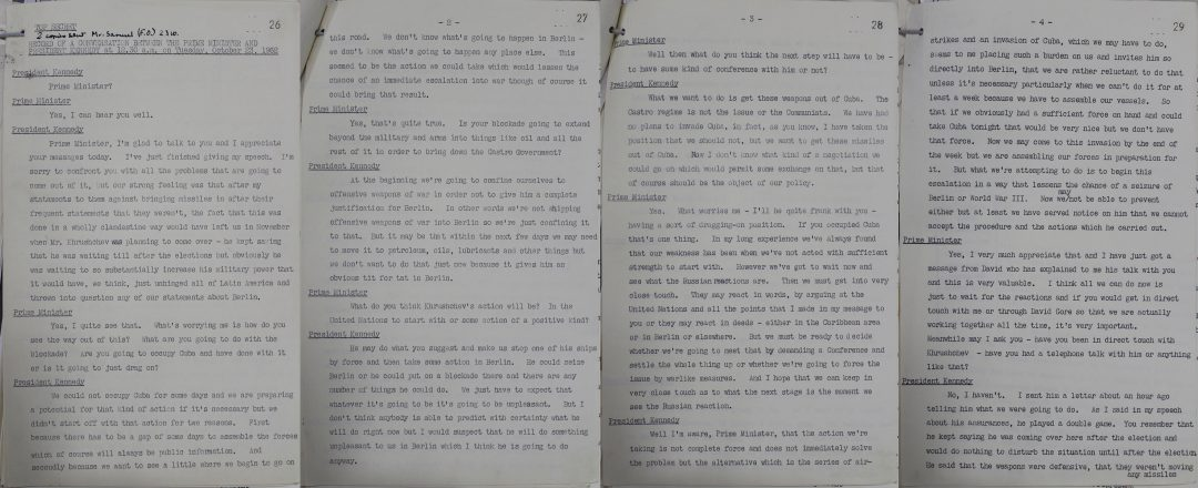 Kennedy & Macmillan talk about Cuba - The National Archives