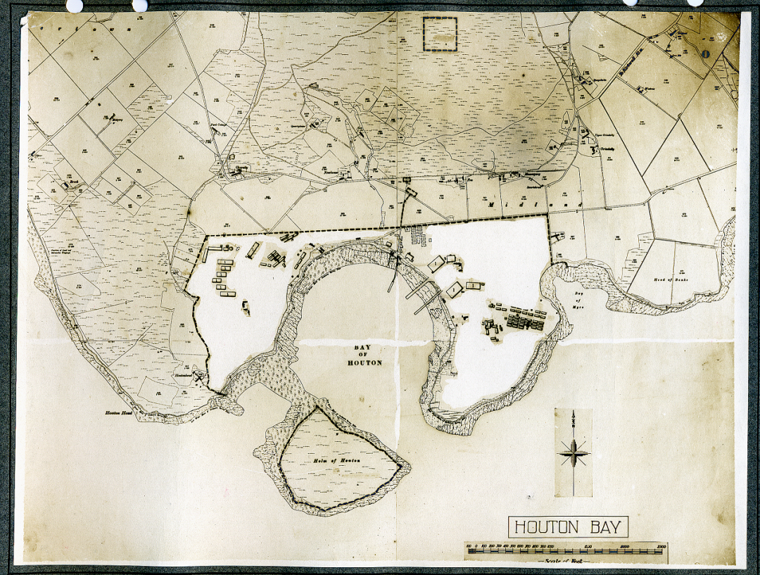 Map of Houton Bay Seaplane Station, September 1918 (catalogue reference AIR 1/452/15/312/26Volume1).