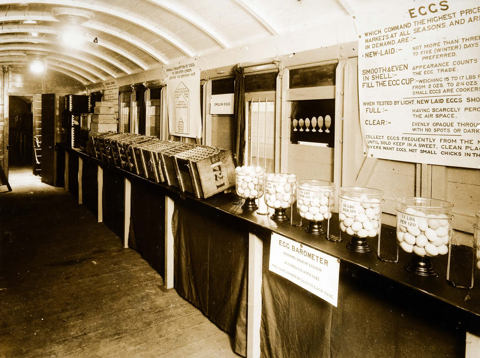 Image of the interior of the Egg and Poultry Demonstration Train RAIL 227_384 _3_October 1916