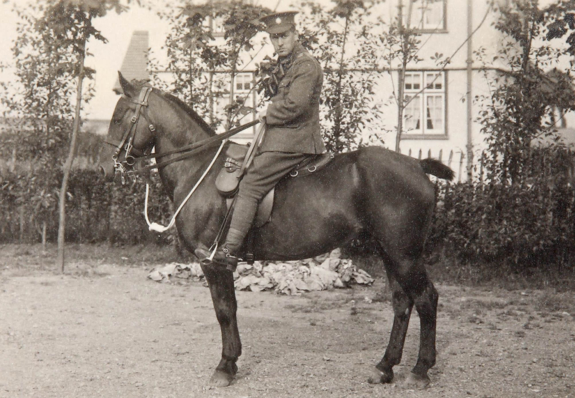 Image of a soldier on a horse